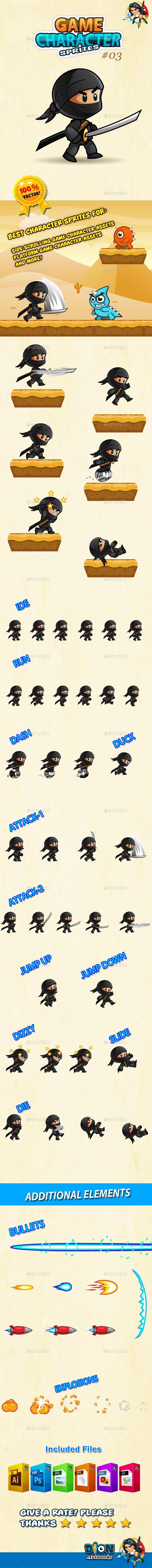 GraphicRiver Ninja Character Sprites 03 10657777