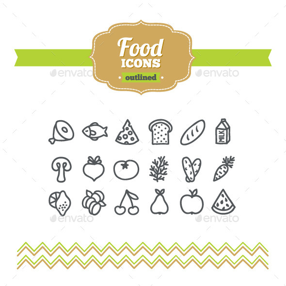 GraphicRiver Hand Drawn Food Icons 10657828