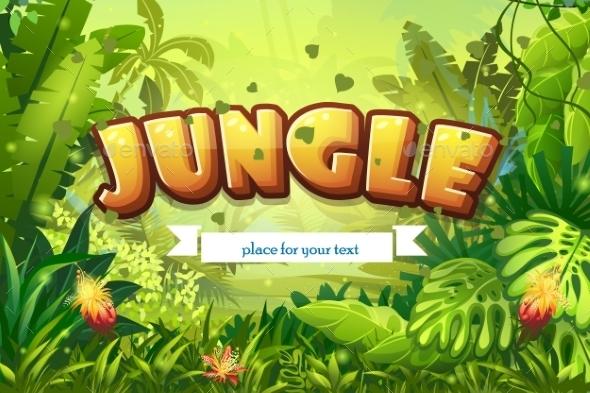 GraphicRiver Jungle Background 10657943
