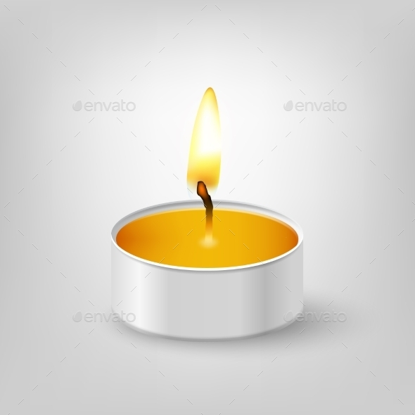GraphicRiver Tealight Candle 10658049