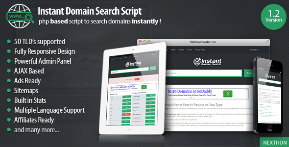 Instant Domain Search Script - CodeCanyon Item for Sale