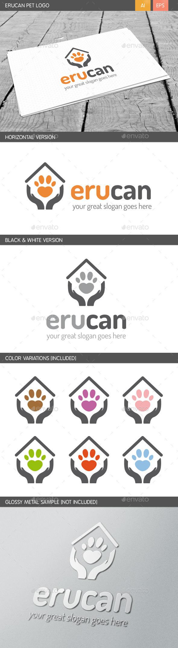 GraphicRiver Erucan Pet Logo 10658065