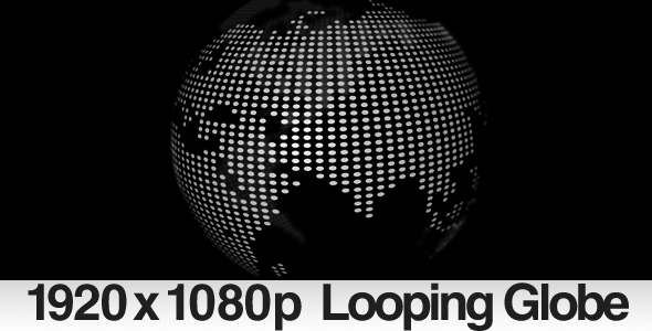 Rotating Dotted Globe Loop & ALPHA