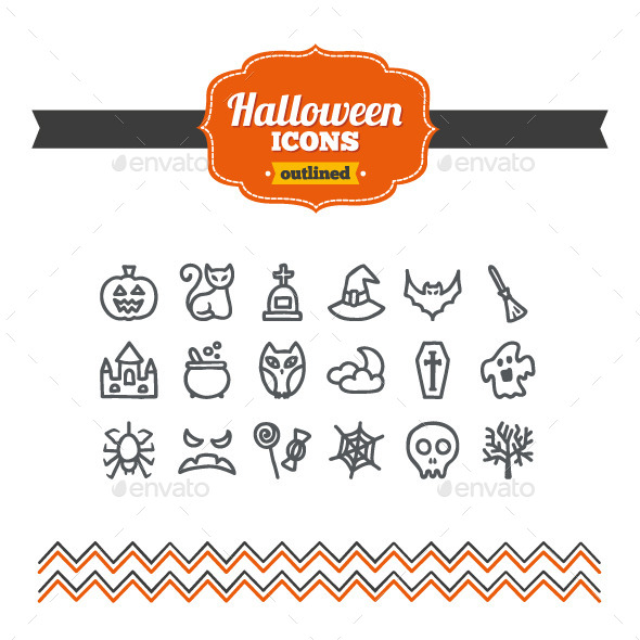 GraphicRiver Hand Drawn Halloween Icons 10658144