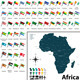 Maps with Flags of Africa - GraphicRiver Item for Sale