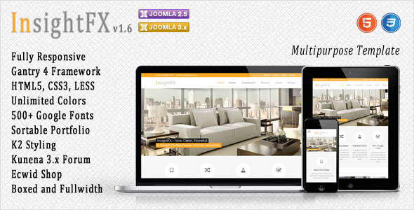 InsightFX - Multipurpose Joomla Template