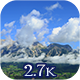 Clouding Up Between The Mountains - VideoHive Item for Sale