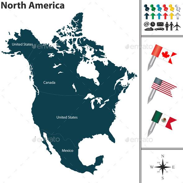 GraphicRiver Map of North America 10658152