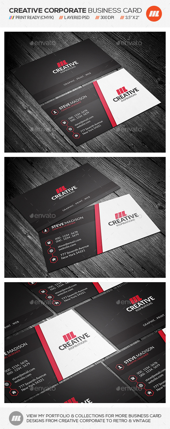 GraphicRiver Modern Corporate Business Card 10658272