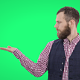 Bearded Man Presenting and Pointing