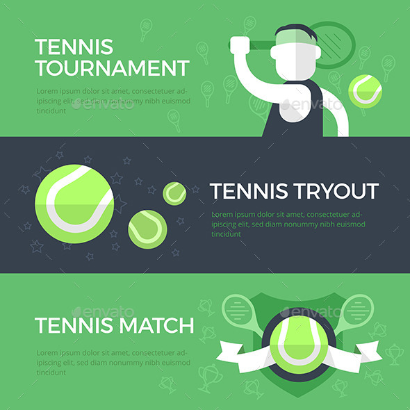GraphicRiver Tennis Banners 10658959