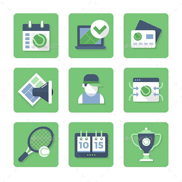 GraphicRiver Tennis Icons 10659003