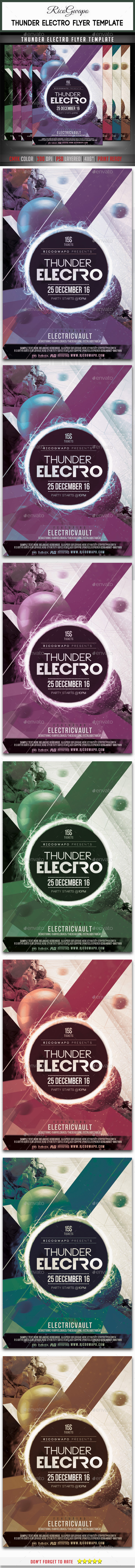 GraphicRiver Thunder Electro Flyer Template 10659164