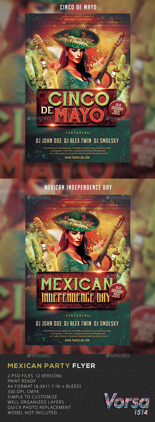 GraphicRiver Mexican Party Flyer 10659278