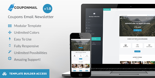 ThemeForest CouponMail Responsive Email & Drag&Drop Builder 10659891