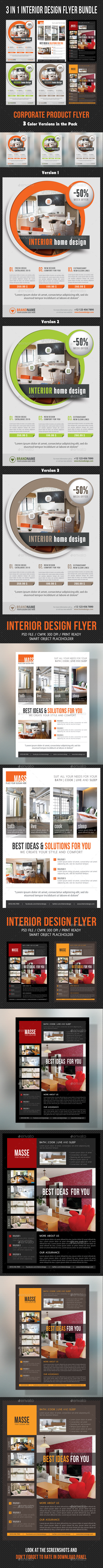 GraphicRiver 3 in 1 Interior Product Flyer Bundle 06 10660394