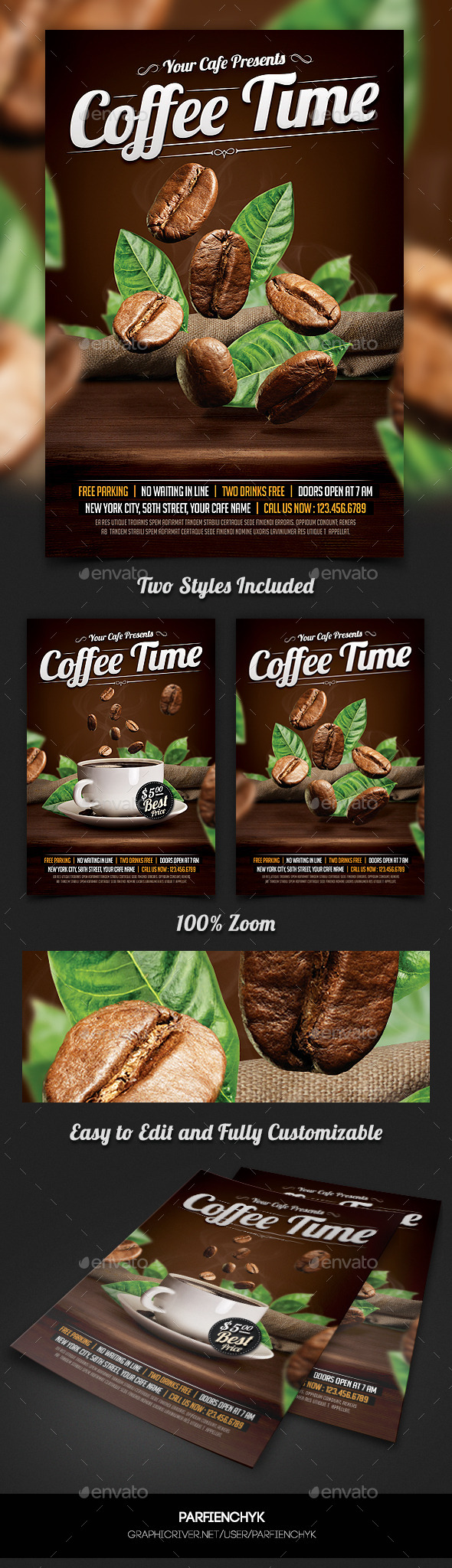 GraphicRiver Coffee Time Flyer Template 10660733
