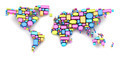 World map formed by speech bubbles - PhotoDune Item for Sale