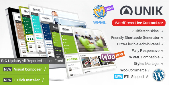 Unik - Ultra Customizable WordPress Theme