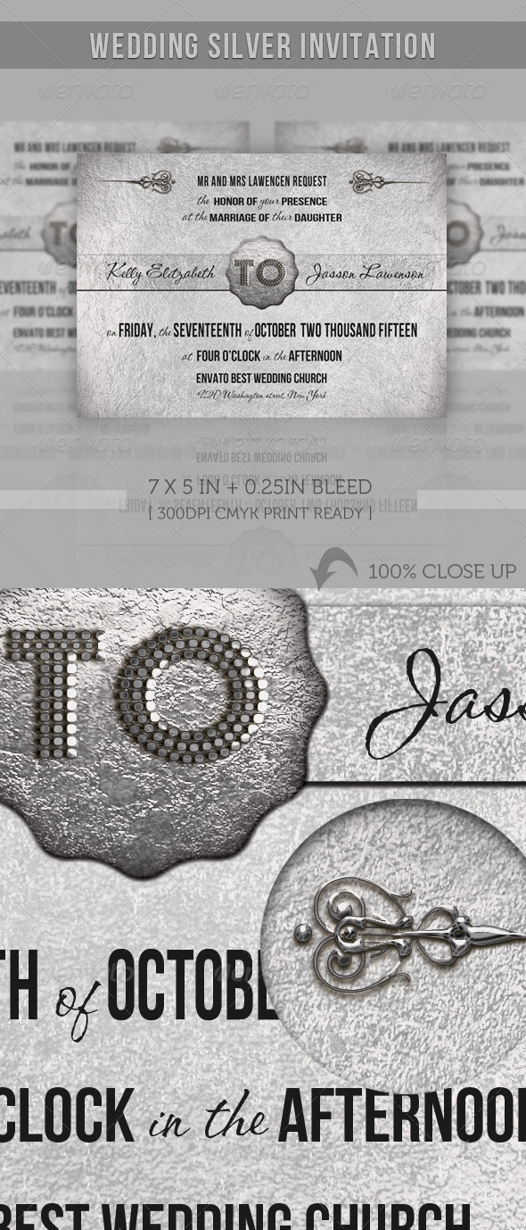 Wedding Silver Invitation - Weddings Cards & Invites