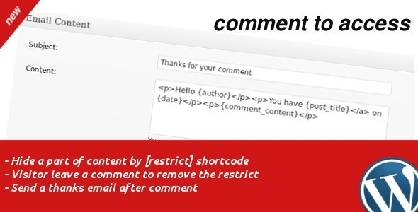 CodeCanyon Comment to Access 1009014