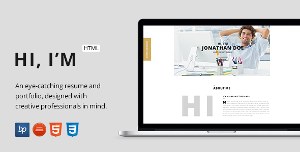ThemeForest Hi I m and this is my Resume and Portfolio 10661417