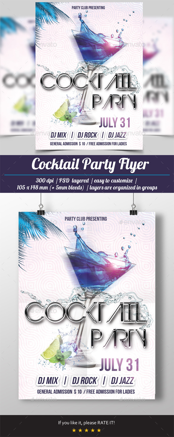 GraphicRiver Cocktail Party Flyer 10661504