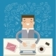 Businessman Working at His Desk - GraphicRiver Item for Sale