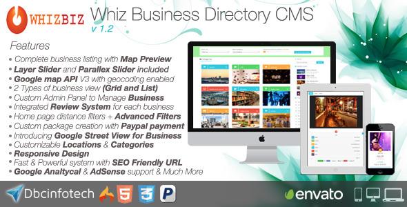 CodeCanyon WhizBiz Business Directory CMS 10661606