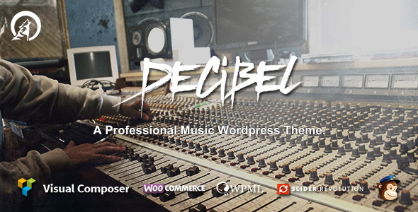 ThemeForest Decibel Professional Music Wordpress Theme 10662261