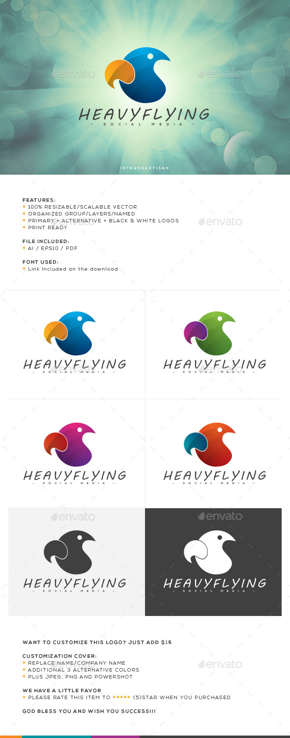GraphicRiver Heavy Flying Logo Template 10662908