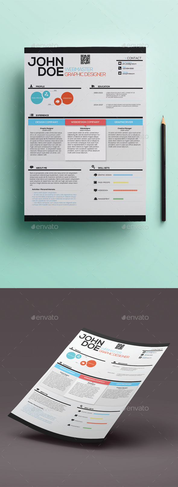 GraphicRiver Simple Creative Resume 10594503