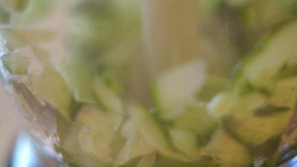 VideoHive Slicing Up the Cucumber Blender 10663079