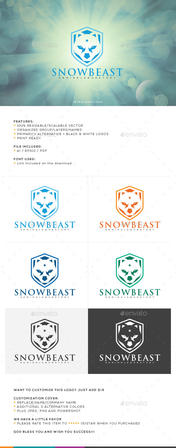 GraphicRiver Snow Beast Logo Template 10663081