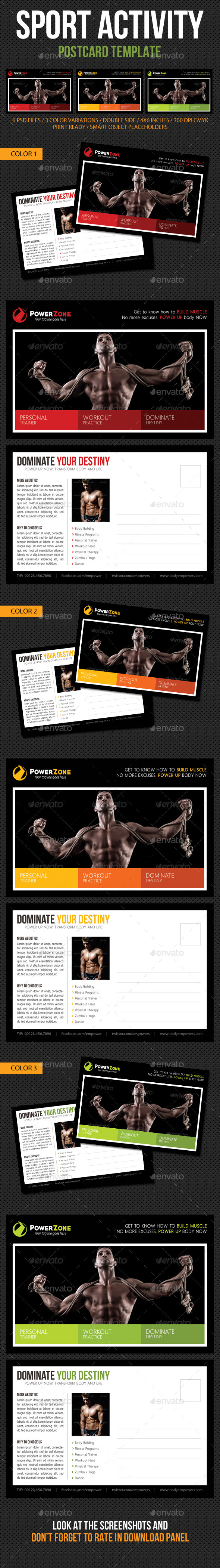 GraphicRiver Sport Activity Postcard Template V09 10663140