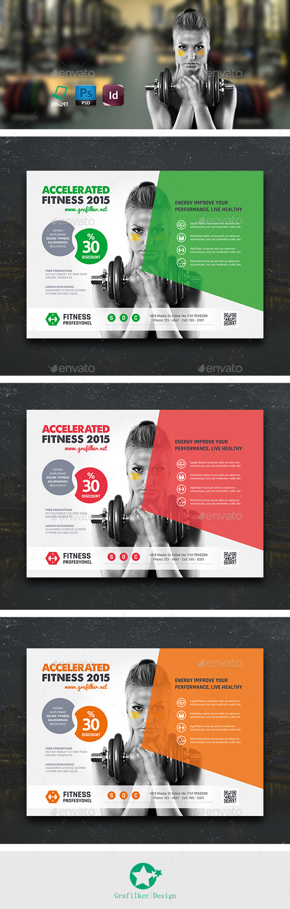 GraphicRiver Fitness Flyer Templates 10663332