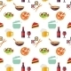 Seamless Restaurant Pattern - GraphicRiver Item for Sale