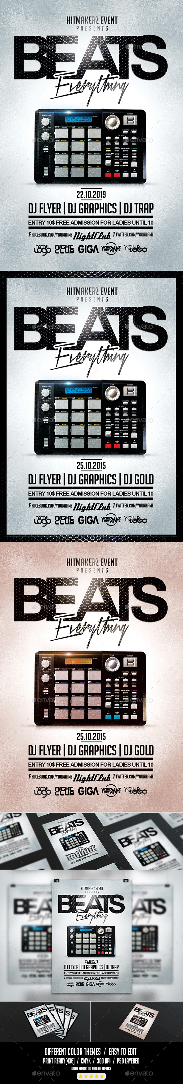 GraphicRiver Beats Everything Flyer PSD Template 10663532