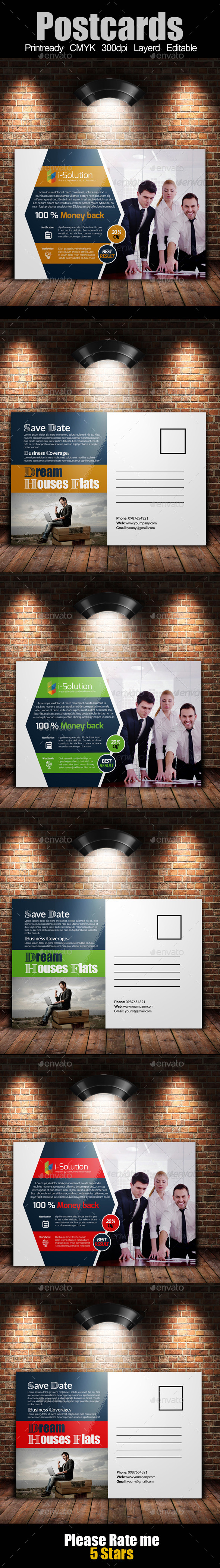 GraphicRiver Multi Use Business Post Cards Template 10663896