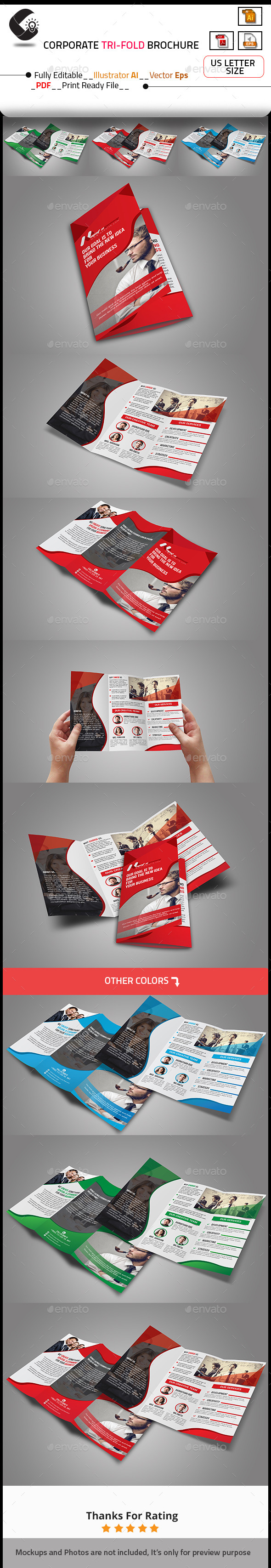 GraphicRiver Tri-Fold Creative Agency Brochure 10663900