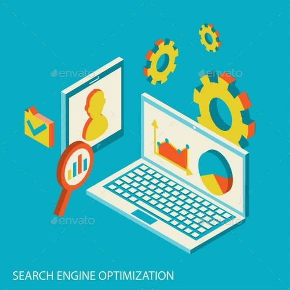 GraphicRiver Isometric Search Engine Design 10663921