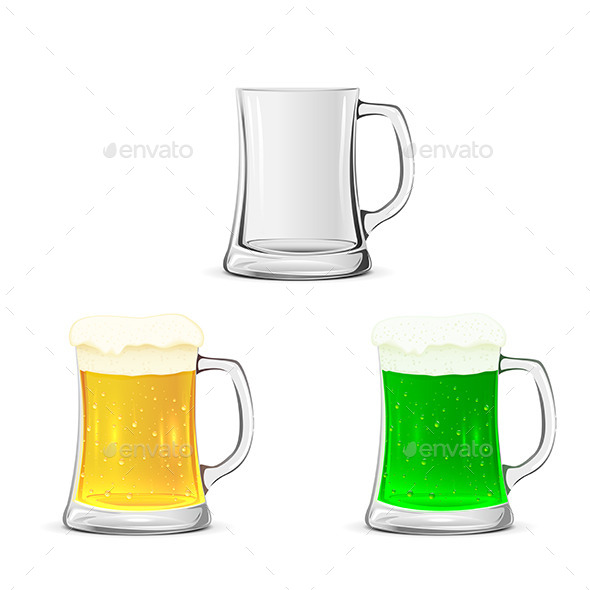 GraphicRiver Mugs of Beer 10663926