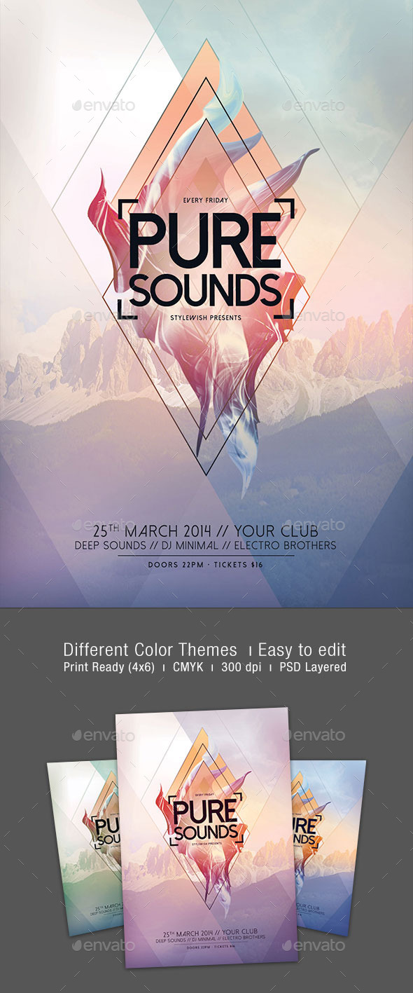 GraphicRiver Pure Sounds Flyer 10663939