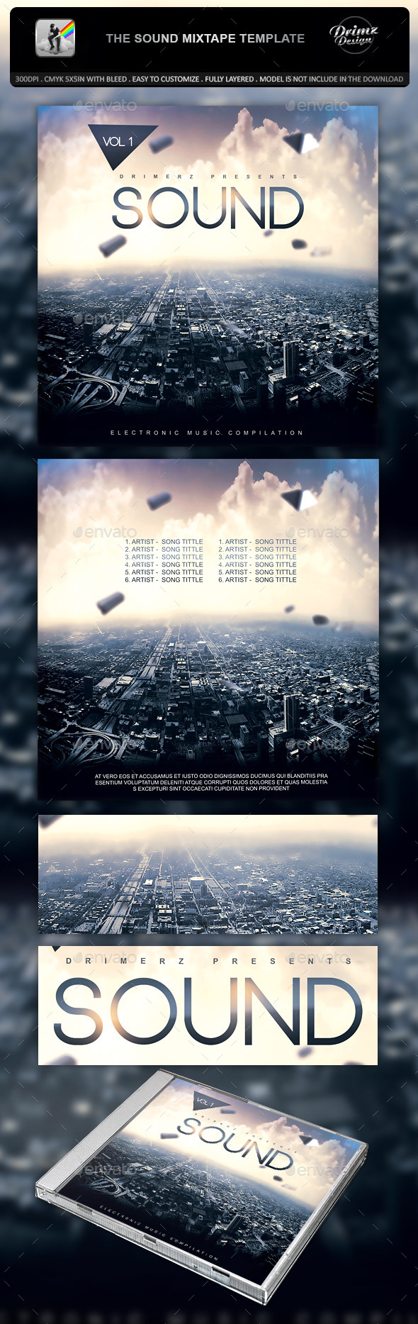 GraphicRiver The Sound Mixtape Template 10663979