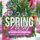 SpringParty Flyer Template - GraphicRiver Item for Sale