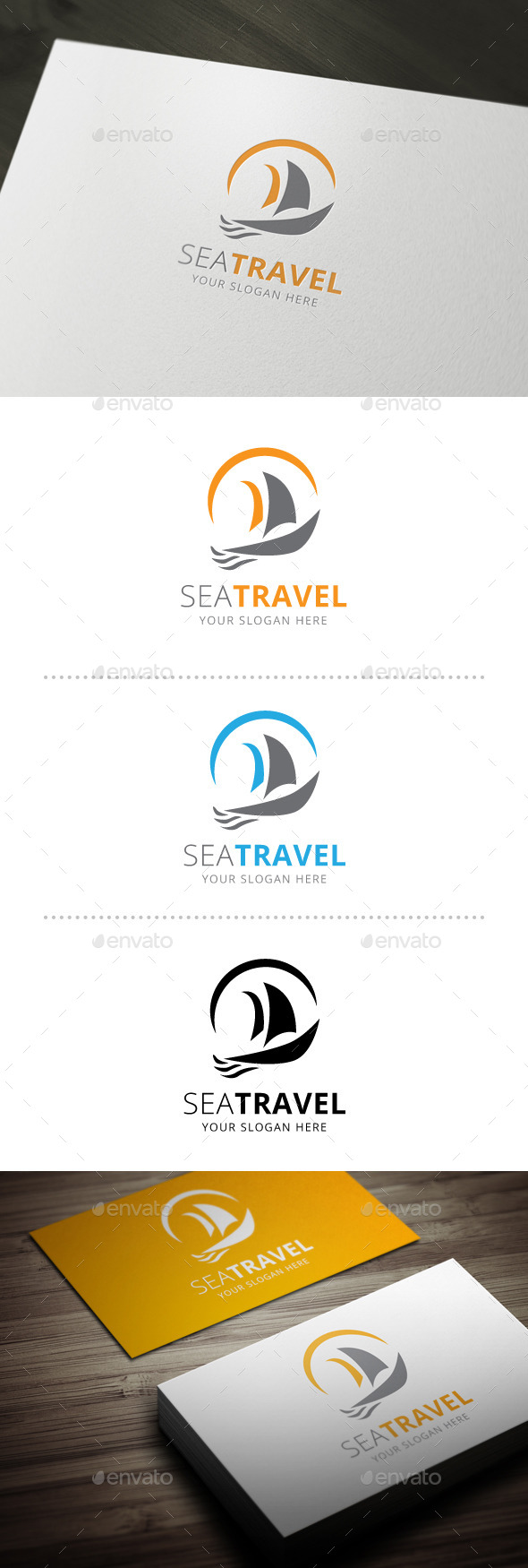 GraphicRiver Sea Travel Logo Template 10664018