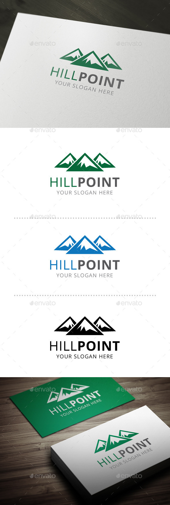 GraphicRiver Hill Point Logo Template 10664027
