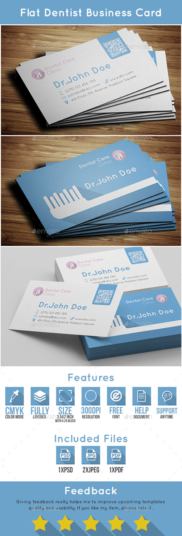GraphicRiver Dentist Business Card 10585819