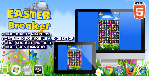 CodeCanyon Easter Breaker HTML5 Game 10664050
