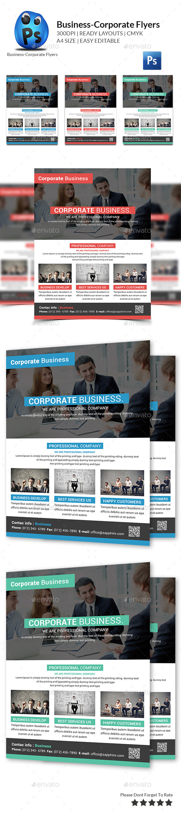 GraphicRiver Best Business Flyers Templates 10664143